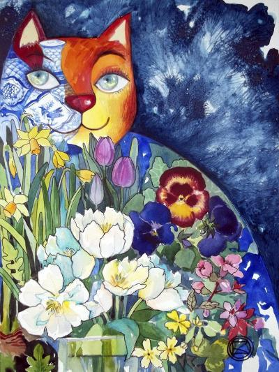 Spring Cat-Oxana Zaika-Giclee Print