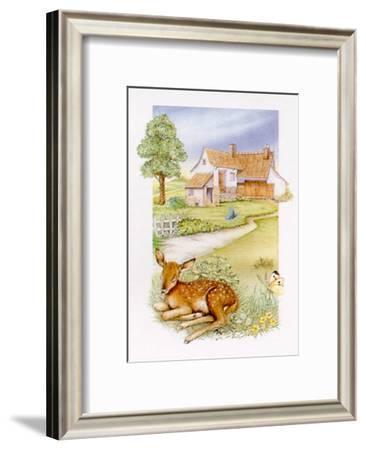 Spring, Deer--Framed Art Print