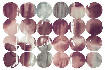 Spring Dots Plum-Elyse DeNeige-Art Print