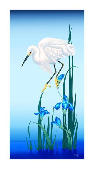 Spring Egret-Gerard Kelly-Giclee Print
