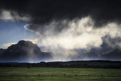 Spring Evening Thunderstorm Travels Along Jackson Hole Valley Over Mt Moran, Grand Teton NP, WY-Jay Goodrich-Photographic Print