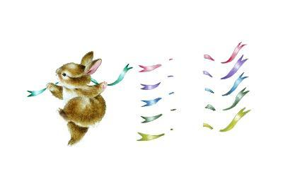 Spring Fling - Dancing Bunny-Peggy Harris-Giclee Print