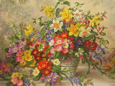 Spring Flowers and Poole Pottery, No. 2-Albert Williams-Giclee Print