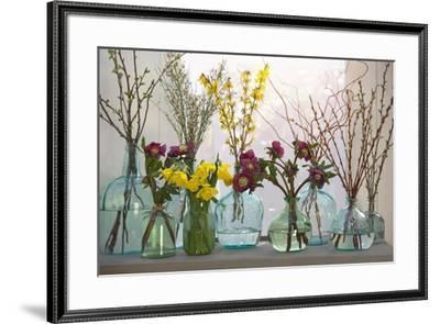 Spring Flowers in Glass Bottles IV-Cora Niele-Framed Giclee Print
