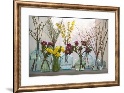 Spring Flowers in Glass Bottles IV-Cora Niele-Framed Giclee Print