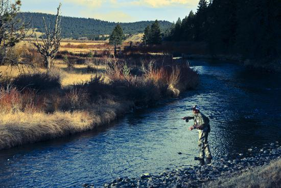 Spring Fly Fishing Outside Of Fairplay Colorado-Liam Doran-Photographic Print