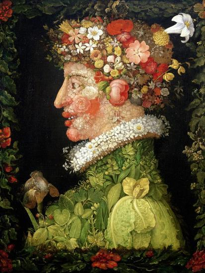 Spring, from a Series Depicting the Four Seasons, 1573-Giuseppe Arcimboldo-Giclee Print