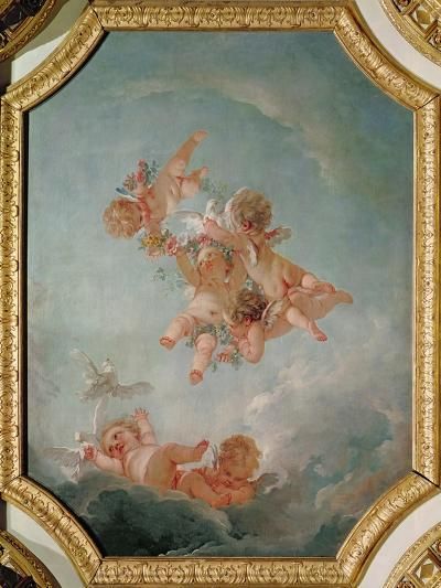 Spring, from a Series of the Four Seasons in the Salle du Conseil-Francois Boucher-Giclee Print