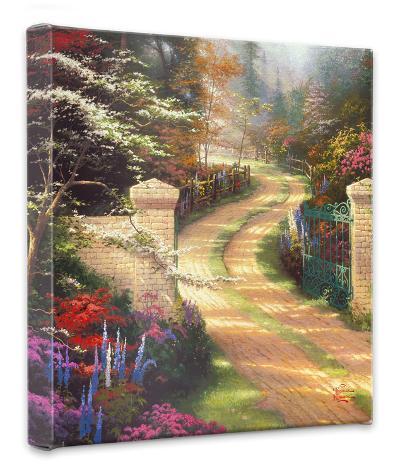 Spring Gate-Thomas Kinkade-Gallery Wrapped Canvas