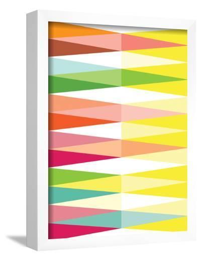 Spring Geometric Triangle-Patricia Pino-Framed Art Print