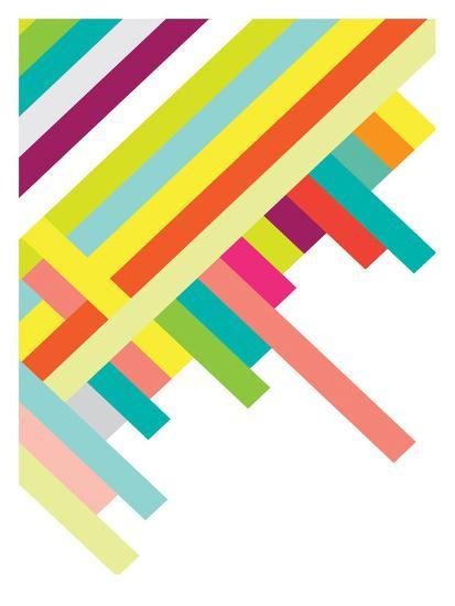 Spring Geometry Poster-Patricia Pino-Art Print