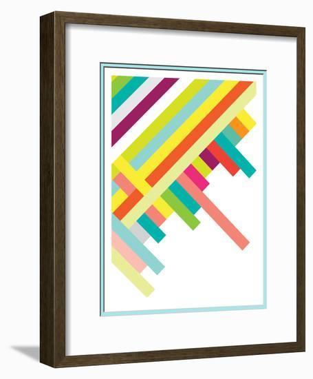Spring Geometry Poster-Patricia Pino-Framed Art Print