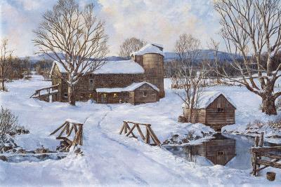 Spring House by the Bridge-Jack Wemp-Giclee Print