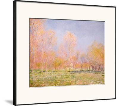 Spring in Giverny, 1890-Claude Monet-Framed Art Print