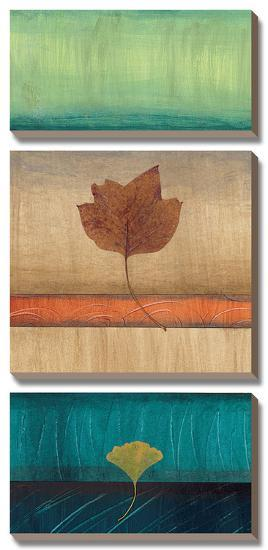 Spring Leaves II-Laurie Fields-Canvas Art Set
