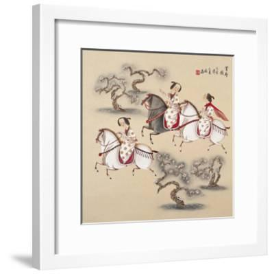 Spring Outing-Zhenhua Wang-Framed Giclee Print