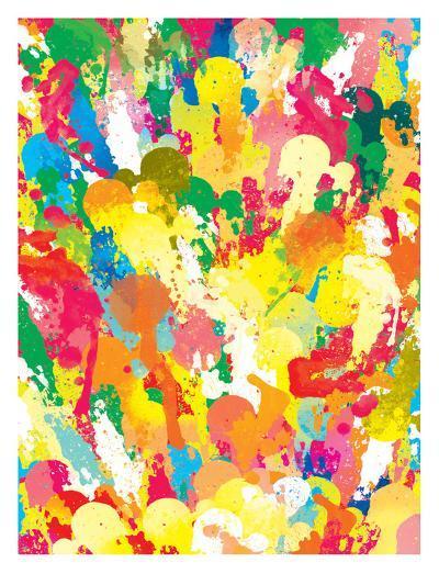 Spring Pattern Paintbrush-Patricia Pino-Art Print