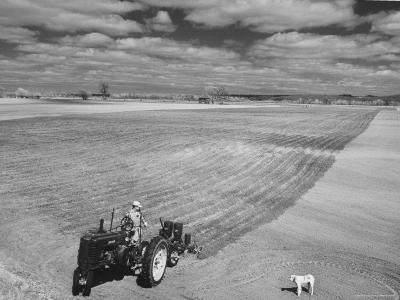 Spring Plowing in de Soto Kansas-Francis Miller-Photographic Print