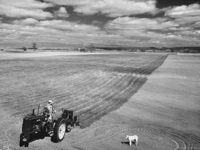 Spring Plowing on Farm in de Soto, Kansas-Francis Miller-Photographic Print