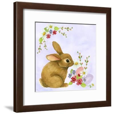 Spring Rabbit 2-Jennifer Nilsson-Framed Giclee Print