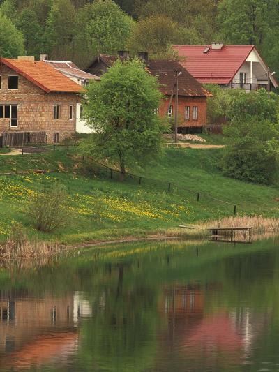 Spring Scene, Rapaty Village, Marmia and Masuria, Poland-Walter Bibikow-Photographic Print