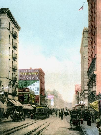 Spring Street, Los Angeles, California, USA, C1900s--Giclee Print