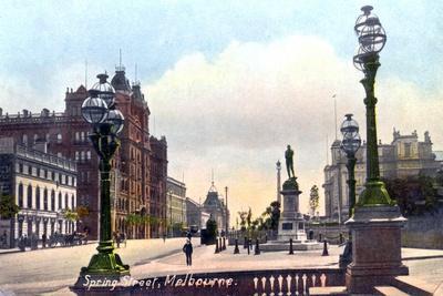 Spring Street, Melbourne, Australia, 1912--Giclee Print