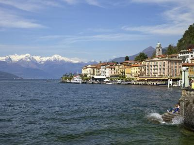 Spring Sunshine in Bellagio, Lake Como, Lombardy, Italian Lakes, Italy, Europe-Peter Barritt-Photographic Print