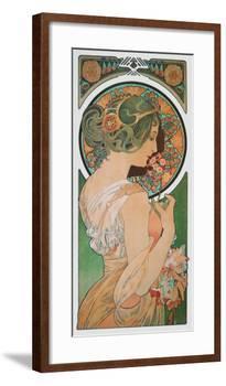 Spring: The Primula , c.1899-Alphonse Mucha-Framed Art Print