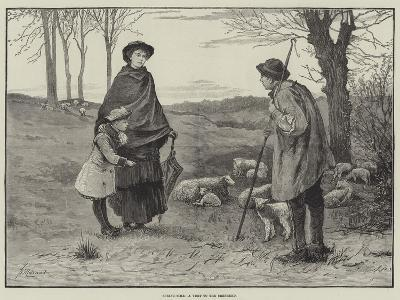 Spring-Time, a Visit to the Shepherd--Giclee Print