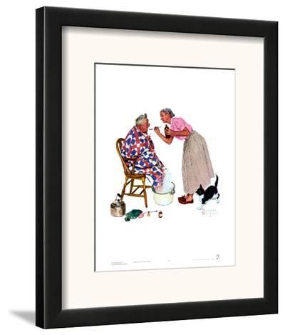 Spring Tonic-Norman Rockwell-Framed Art Print