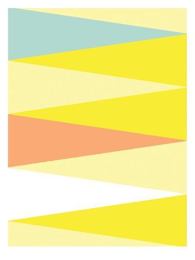 Spring Triangle Pattern-Patricia Pino-Art Print