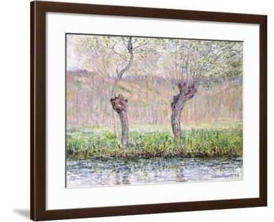 Spring, Willows, 1885-Claude Monet-Framed Giclee Print