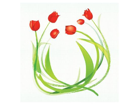 Spring Wreath-Miranda York-Art Print
