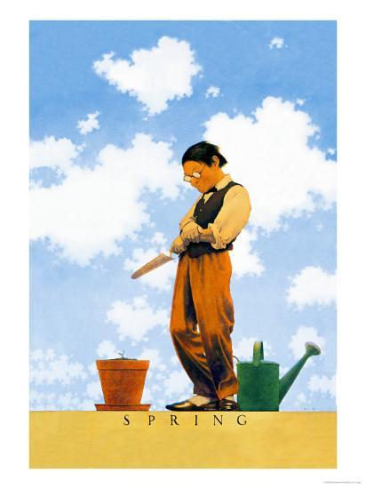 Spring-Maxfield Parrish-Art Print