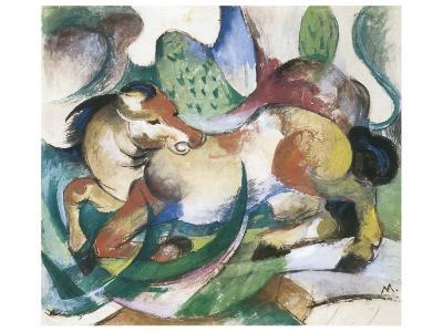 Springendes Pferd-Franz Marc-Premium Giclee Print