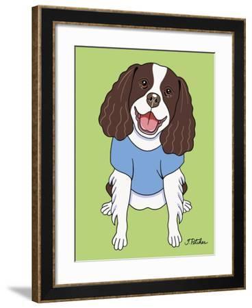 Springer Spaniel-Tomoyo Pitcher-Framed Giclee Print