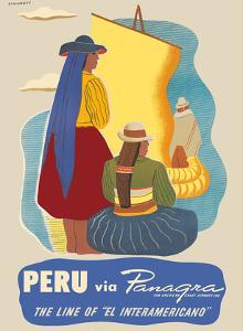 Peru - via Panagra (Pan American - Grace Airlines) by Springett