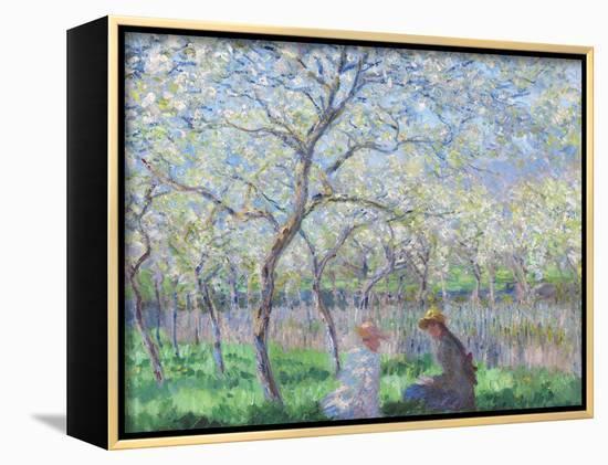 Springtime, 1886-Claude Monet-Framed Canvas Print