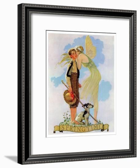 """Springtime, 1933"", April 8,1933-Norman Rockwell-Framed Giclee Print"
