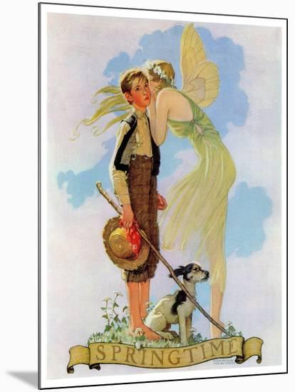 """""""Springtime, 1933"""", April 8,1933-Norman Rockwell-Mounted Giclee Print"""