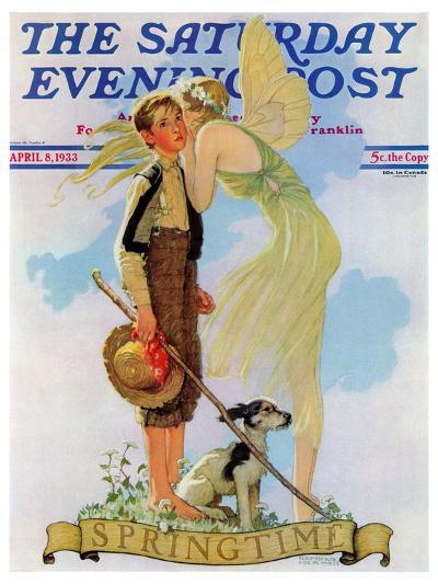 """Springtime, 1933"" Saturday Evening Post Cover, April 8,1933-Norman Rockwell-Giclee Print"