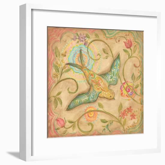 Springtime Birds III-Kate McRostie-Framed Art Print