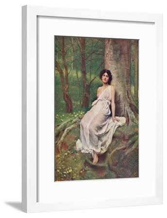 'Springtime', c1897, (c1900)-Philip Hermogenes Calderon-Framed Giclee Print