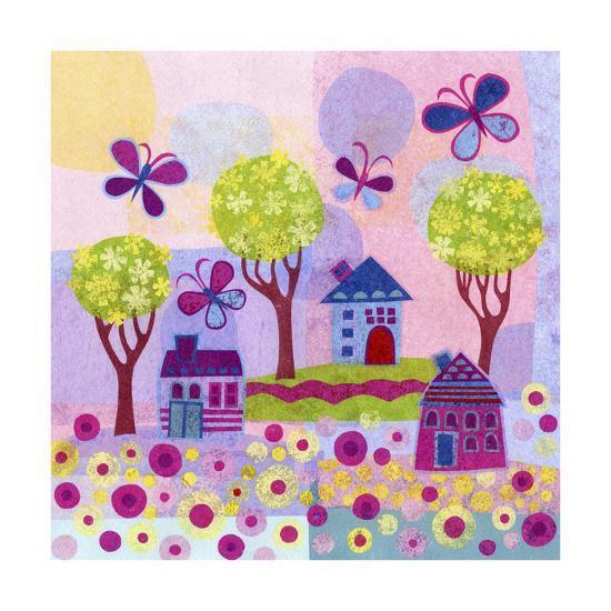 Springtime Houses-Kim Conway-Art Print