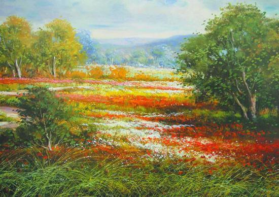 Springtime in Provence-Cazzaniga-Art Print
