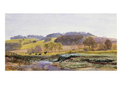 Springtime near Marden, Surrey, England-John Brett-Giclee Print