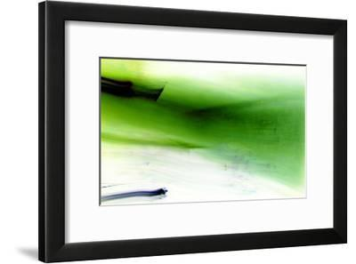 Sprout in the Green-Blew-Framed Art Print