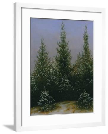 Spruce Forest in Snow (Dresdner Heide I.), ca. 1828-Caspar David Friedrich-Framed Giclee Print