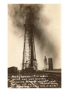 Spurting Oil Well, Oklahoma